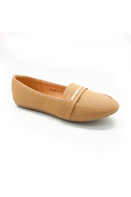XES Ladies BSLCES12 Classic Flats (Black, Taupe)