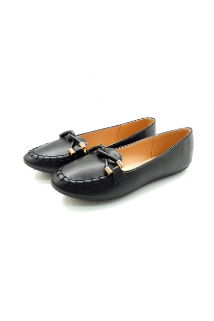 XES Ladies BSLCES13 Classic Flats (Black, Apricot)