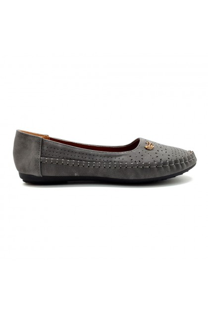 XES Ladies BSLCES19 Classic Flats (Grey, Pink)