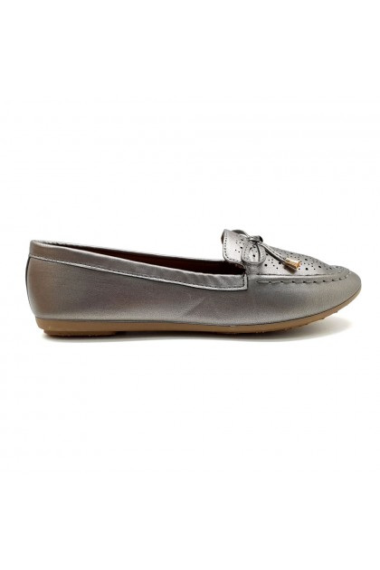 XES Ladies BSLCES21 Classic Flats (Pink, Pewter)