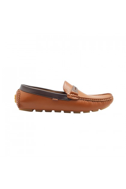 XES Men MCDL02 Loafers Shoes (Brown, Black)