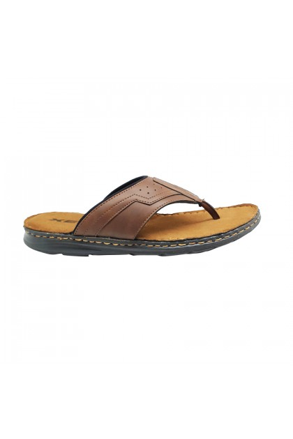 XES Men MTDW103 Slip-on Comfort Sandals (Brown, Black)