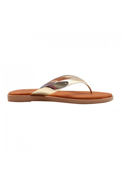 XES Ladies BSLM60733 Stylish Sandals (Gold, Pewter)