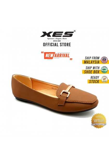XES Ladies BSLCES26 Classic Flats (Black/Coffee)