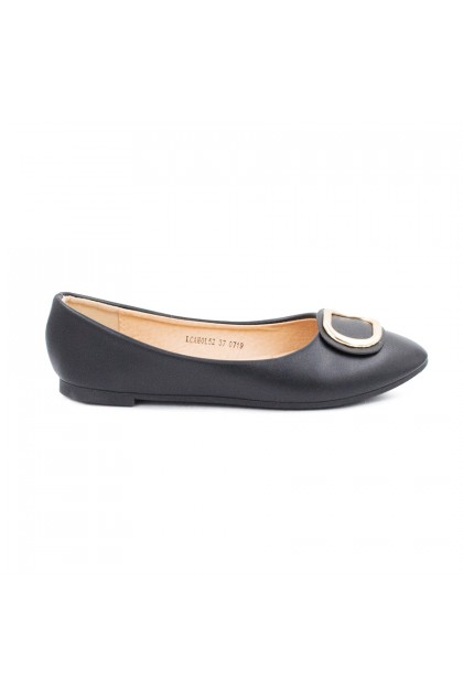 XES Ladies LCAHOL52 - Stylish Flat (Brown,Black)