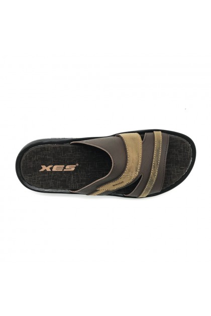 XES Men MM20596 Comfort Slip-on Sandals (Brown)