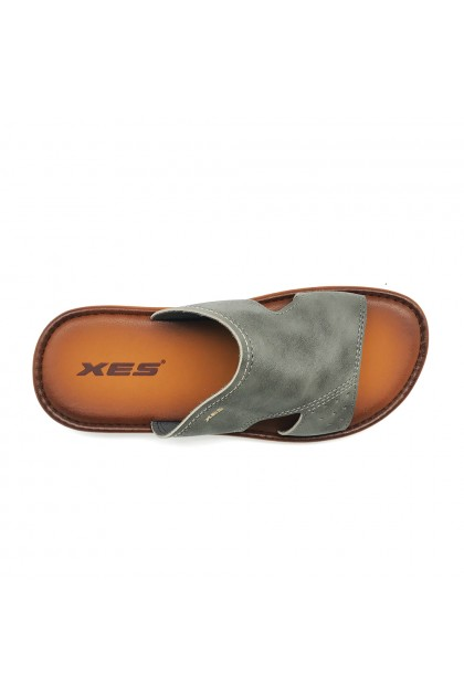 XES Men MM20601 Comfort Slip-on Slippers (Grey, Black)