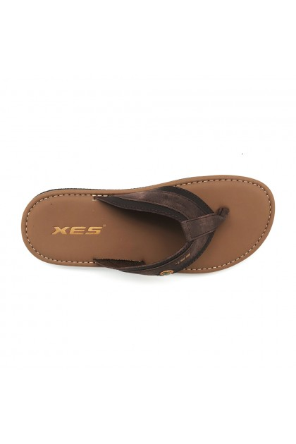 XES Men MM20646 Comfort Slip-on Slippers (Black, Brown)