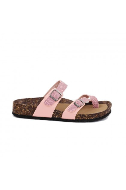 XES Ladies LM60414 Slip-on Sandals (Navy Blue, Pink)