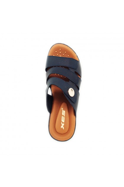 XES Ladies LM40428 Strap Sandals (Navy Blue, Pink)