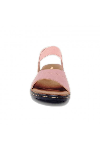 XES Ladies LM40430 Strap Sandals (Black, Pink)