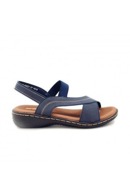 XES Ladies LM40431 Strap Sandals (Brown, Navy Blue)