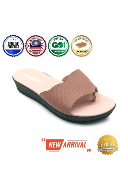 XES Ladies BSLM60559 Flip Flop Slippers (Bronze, Pink)