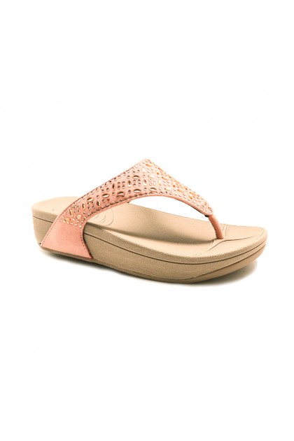 XES Ladies LM60483 Slip-on Sandals (Pink, Navy)