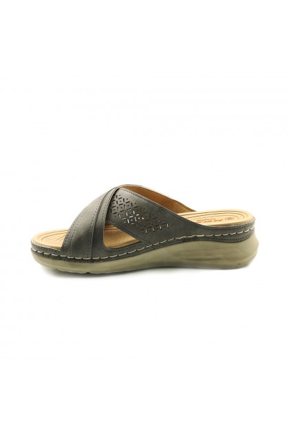 XES Ladies LCKL6121 Casual Sandals (Grey, Brown)