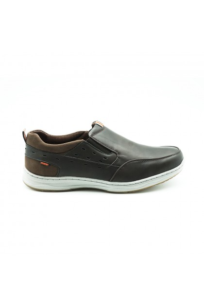 XES Men MCTS200 Casual Slip-Ons (Black, Coffee)