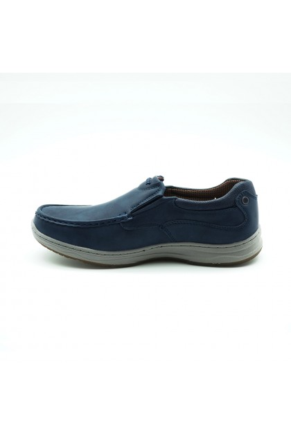 XES Men MCTS201 Casual Slip-Ons (Camel, Navy)