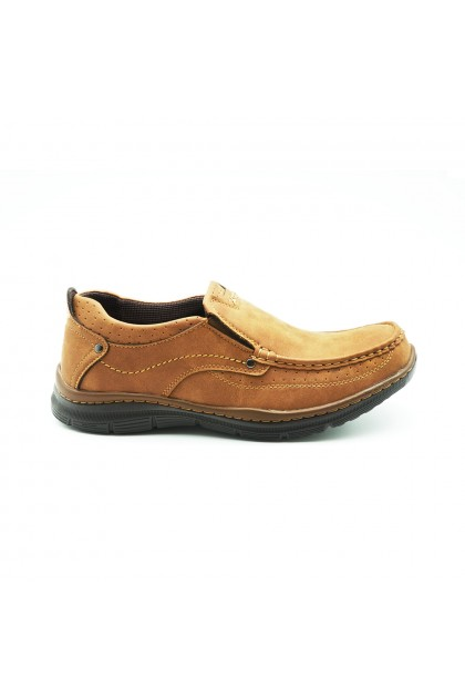 XES Men MCTS220 Casual Slip-Ons (Coffee, Camel)