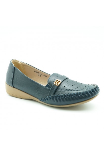 XES Ladies LC032-310 Casual Slip-on Flats (Navy, Khaki)