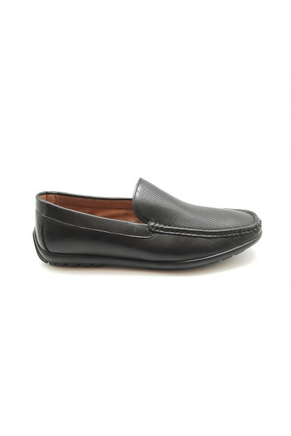 XES Men MCGL1141 Casual Loafers (Black, Camel)