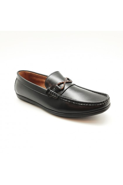 XES Men MCGL1155 Casual Loafers (Coffee, Black)