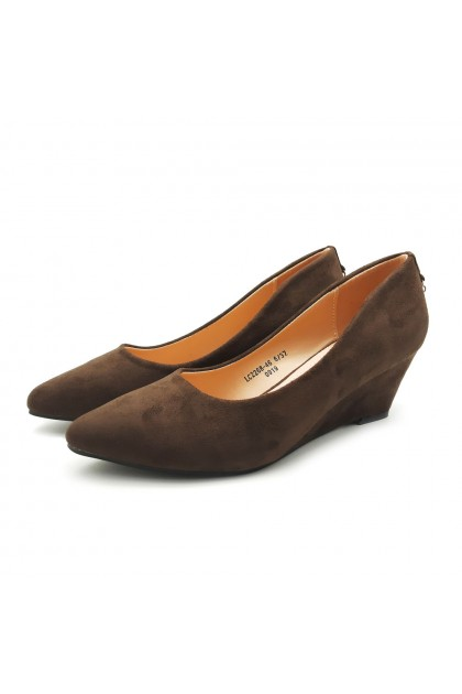XES Ladies LC2268-46 Heels (Black, Dk Brown)