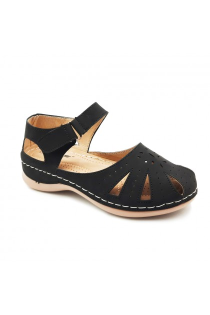 XES Ladies LCKL1150 Single-strap Casual Shoes (Black, Brown)