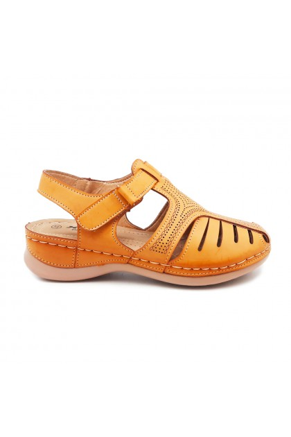 XES Ladies LCKL1153 Strappy Casual Shoes (Apricot, Maroon)