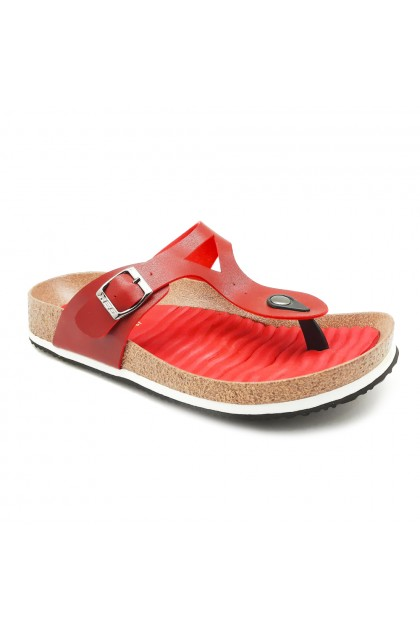 XES Ladies LM60478 Casual Sandals (Black, Red)
