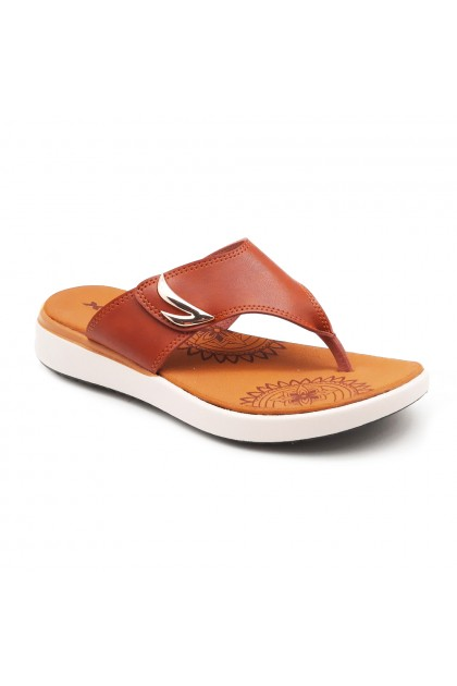 XES Ladies LM60479 Casual Sandals (Tan, Black)
