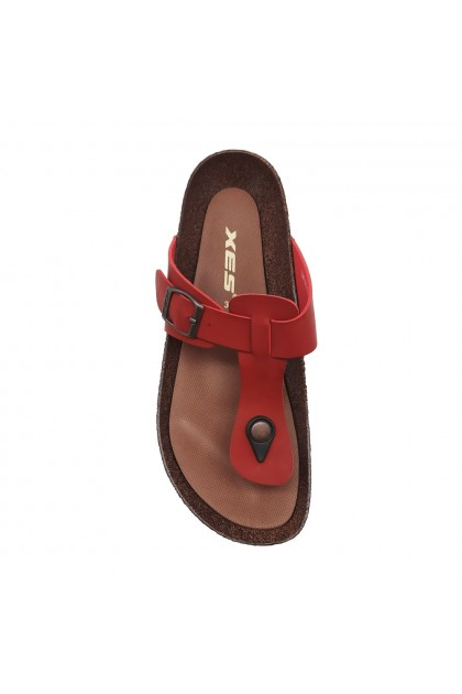 XES Ladies LM60487 Casual Sandals (Red, Brown)