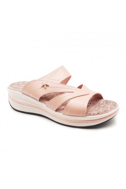 XES Ladies LM30412 Casual Sandals (Pink, Navy)