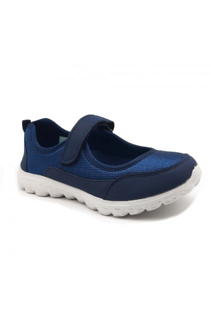 XES Ladies LCEL100-34 Slip-on Casual Sneakers (Pink, Navy)
