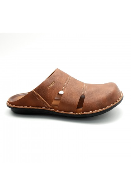 XES Men MM20660 Casual Sandals (Camel, Black)