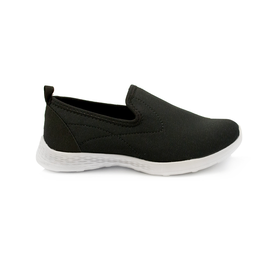 XES (Refresh) Ladies LCELOL213 Black/Grey/Khaki Slip-on Sneakers